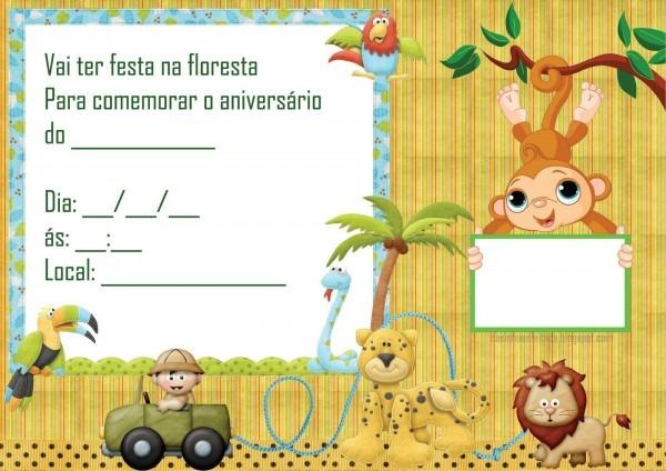 Kit Festa Safari Para Imprimir Grátis