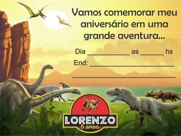 10 convites tema dinossauros personalizacao grátis