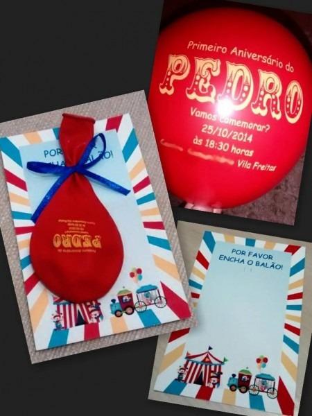 Ideia Criativa  Convite Com Balão!
