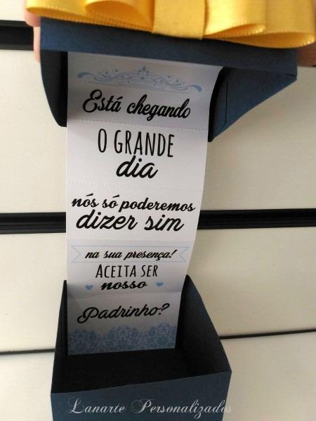 12 Convites Padrinho Madrinha Casamento No Elo7
