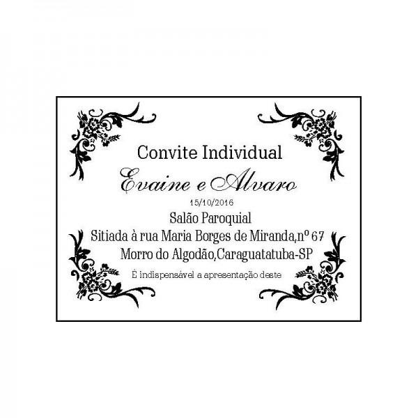 190 Convite Individual Para Casamento