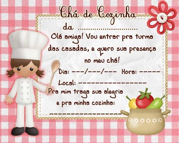Modelos De Convites De Chá De Cozinha