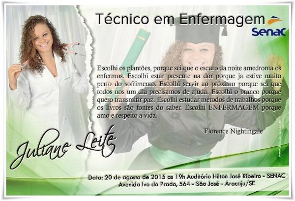 Convite curso técnico em enfermagem