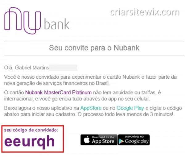 Tag; como usar o convite nubank