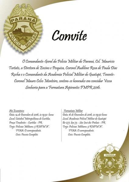 Convite formatura aspirantes pmpr 2016