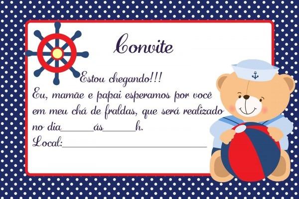Convite De Chá De Bebê  65 Modelos Lindos P Download E Imprimir