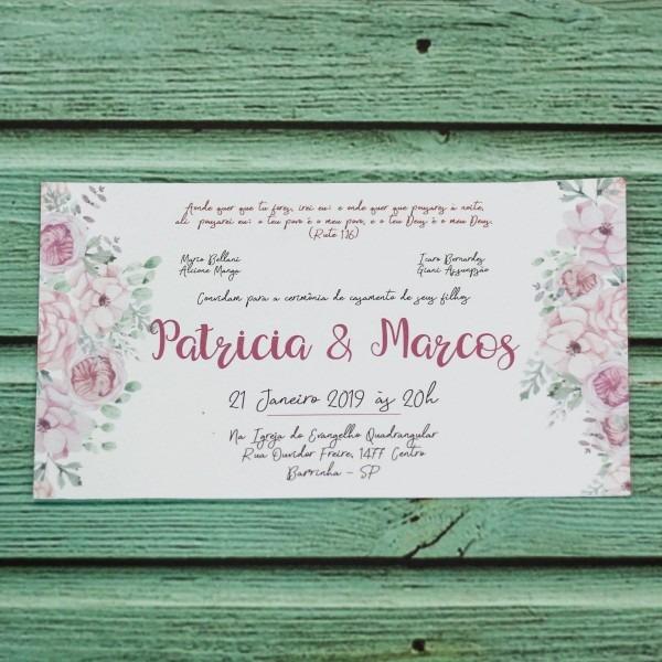 30 convite casamento simples para padrinhos online barato