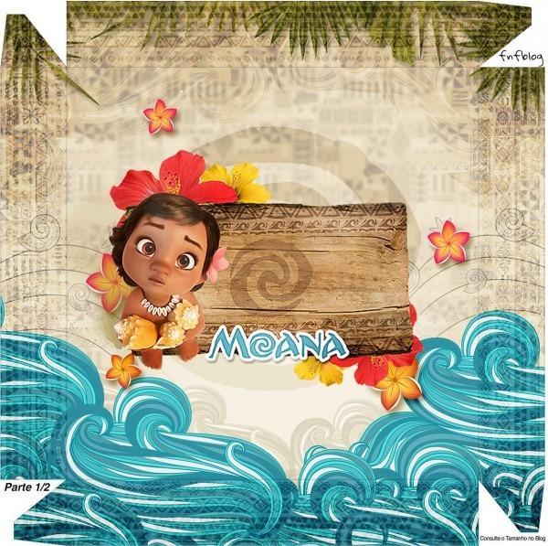 Moana Baby Kit Festa + 100 Moldes Grátis Para Imprimir