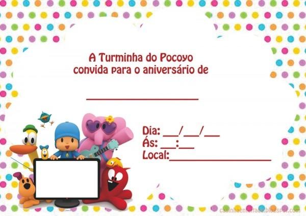 Kit festa pocoyo para imprimir grátis em 2018