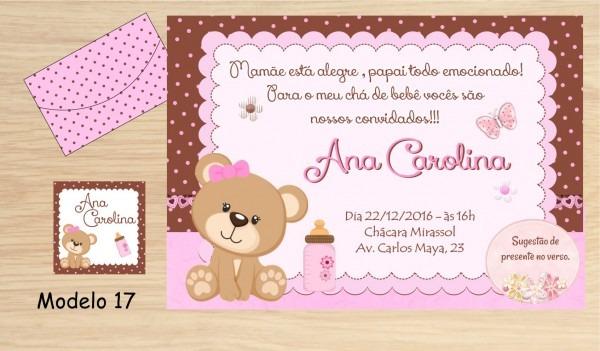 48 Convites Chá Bebê   Fraldas No Elo7