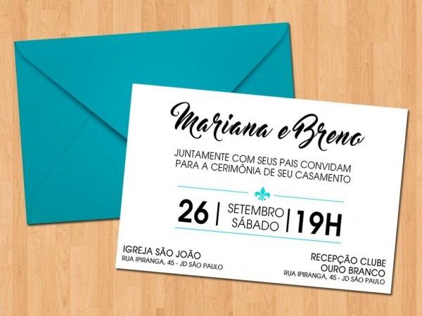 50 convites de casamento + brinde promoção!!!