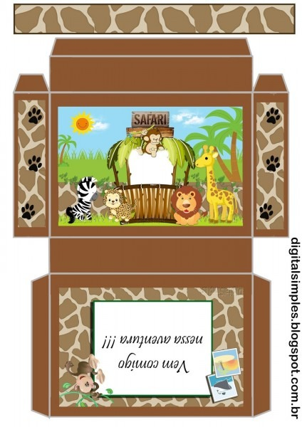 Tema aniversário infantil festa safári gratuito, pra imprimir  com