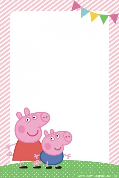 Convite peppa pig …