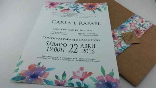 70 convites casamento rustico floral