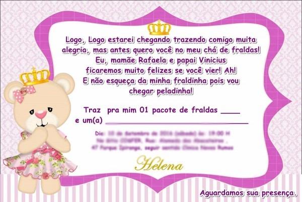 70 convites personalizados chá de bebê ou fraldas