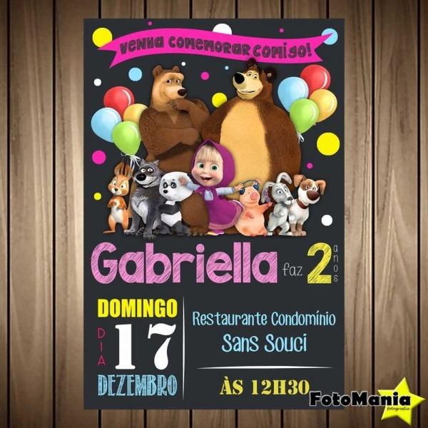 Convite digital masha eo urso