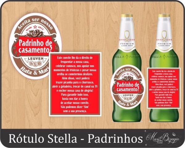 8 rótulos convite padrinhos madrinhas cerveja