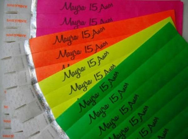 Pulseira convite 15 anos neon balada