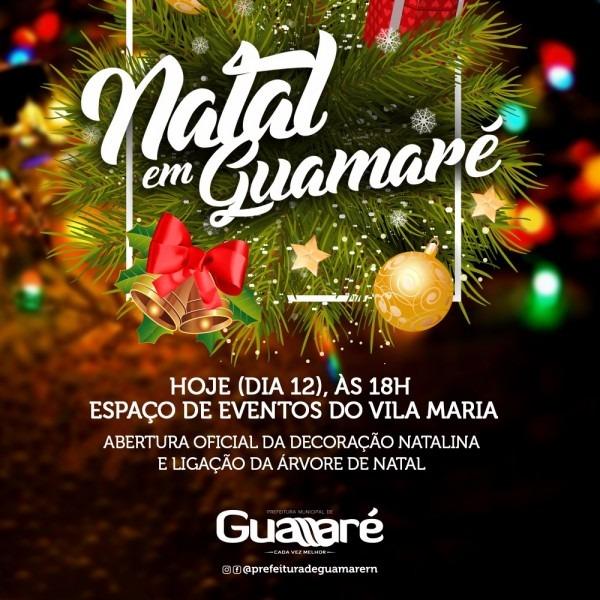 Convite  abertura oficial da decoração natalina e ligação da