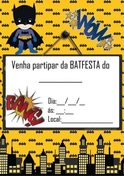 Kit festa batman para imprimir grátis em 2018