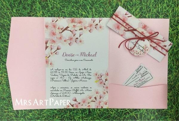 Arquivo de corte convite casamento pocket