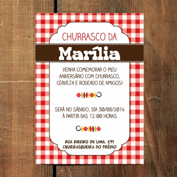 Convite virtual churrasco