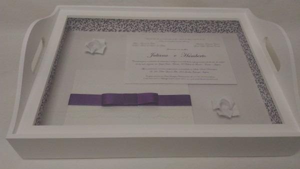 Bandeja convite de casamento juliana e humberto