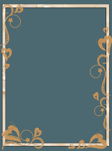 Borda dourada para convite png 1 » png image