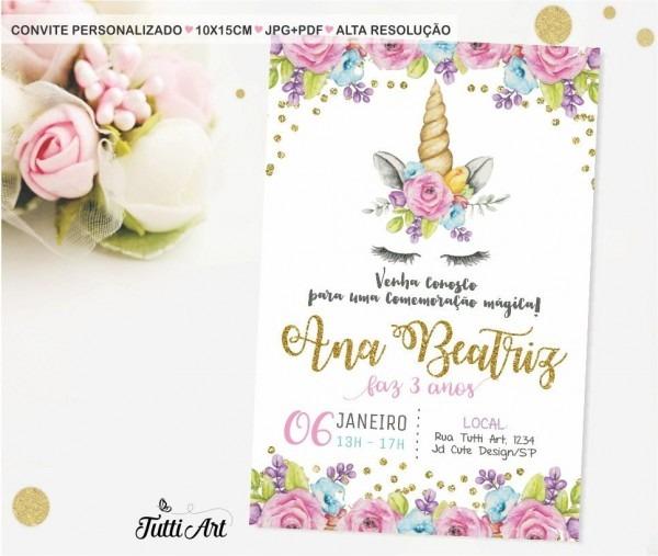 Convite Digital UnicÓrnio