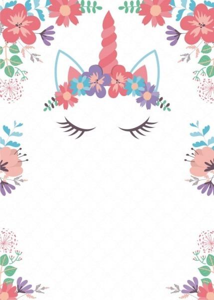 Image Result For Invitaciones De Unicornio Para Editar