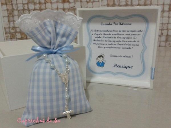 Caixa convite madrinha consagração no elo7