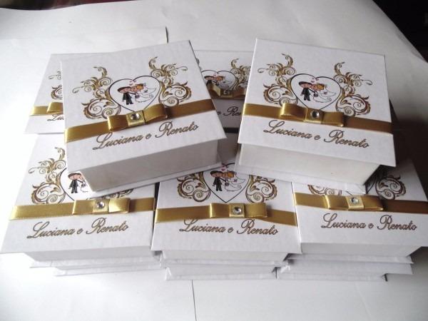 Caixa Convite Padrinhos Casamento 15 Anos Tamanho 20x20x4