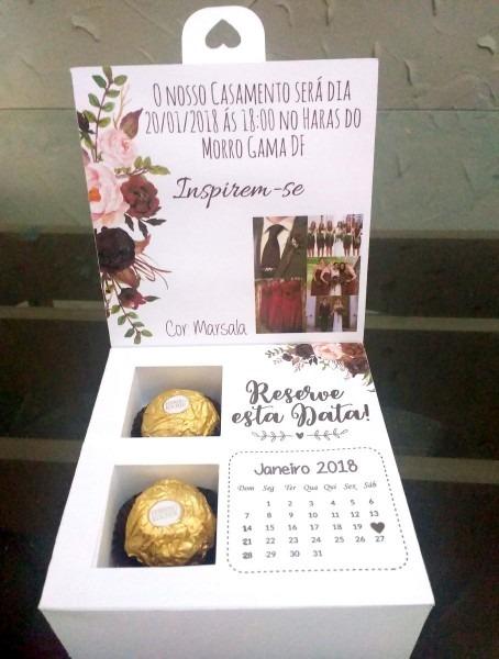 Caixa Convite Padrinhos De Casamento Kit 13 Unidades
