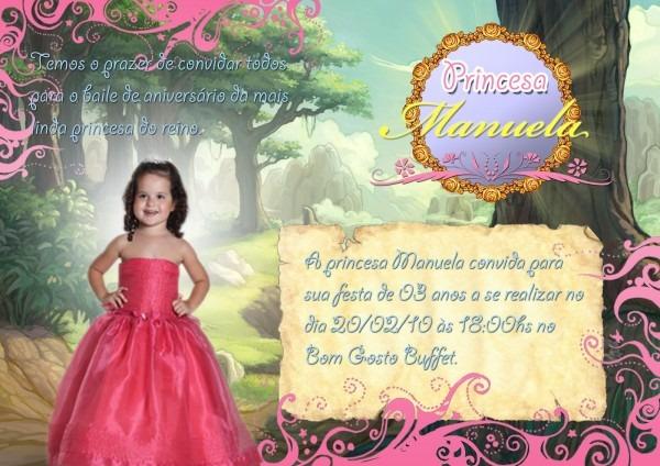 Simborameubem  Convite Aniversário De Menina