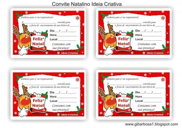 Imagens natalinas para convite