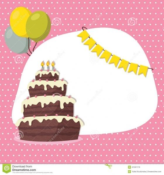 Cartão Do Convite Do Aniversário Para A Menina Ilustração Do Vetor