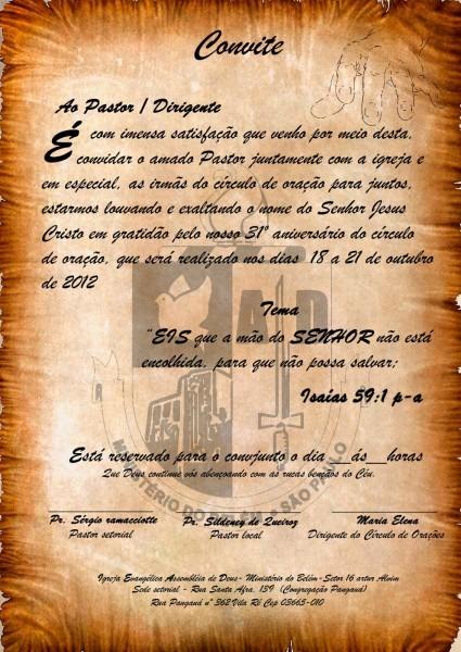 Circulo De Oração)