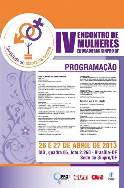 Df  convite  iv encontro de mulheres educadoras