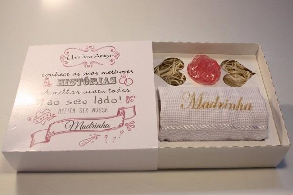 Casamento Convite Padrinho Madrinha Histórias Toalha 12 Uni