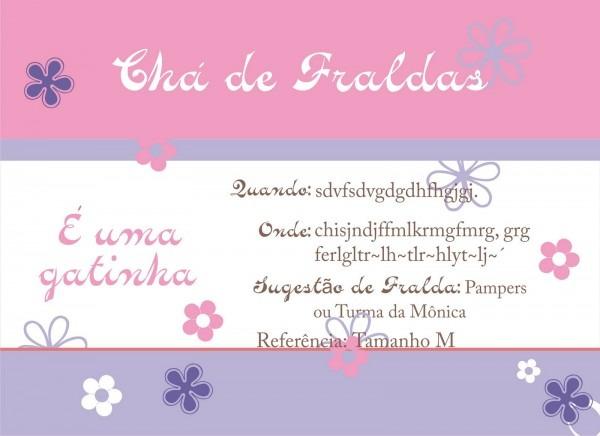 Exclusive  Convite Chá De Fraldas