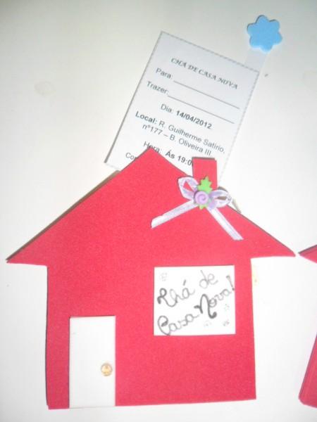 Professora adriana  convite chÁ de casa nova!!!