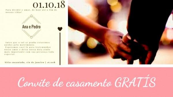 Maravilhoso de criar convite casamento online gratis crie seu gr