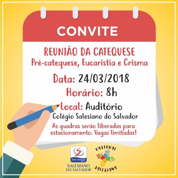 Convite – reunião da catequese