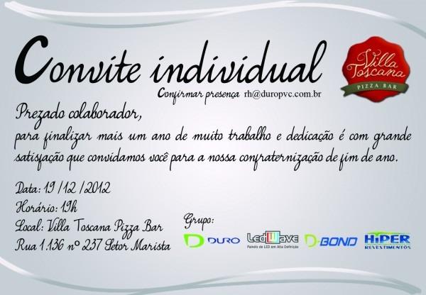 Convite Da Festa De Confraternização