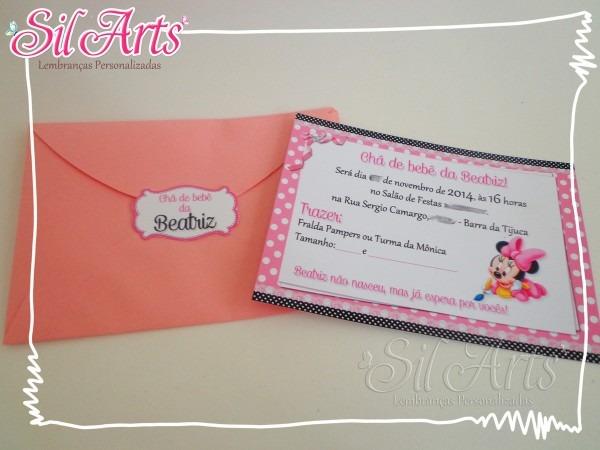 Convite 10x7 com envelope no elo7