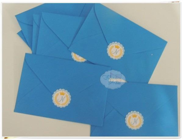 Convite 10x7 com envelope e lacre pers  no elo7