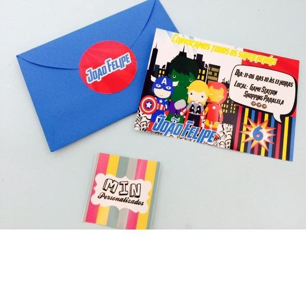 Convite 10x7 com envelope
