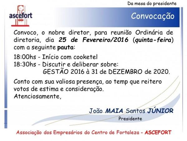 Ascefort » convite reunião dia 25 02 2016 (quinta