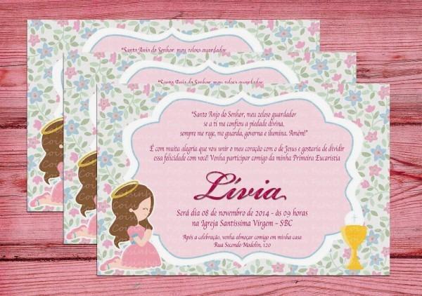 Fabi_b  convite primeira comunhão menina