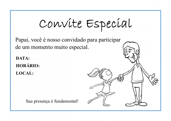 Serafim Ballet  Convite Especial Dia Dos Pais (download Gratuito)
